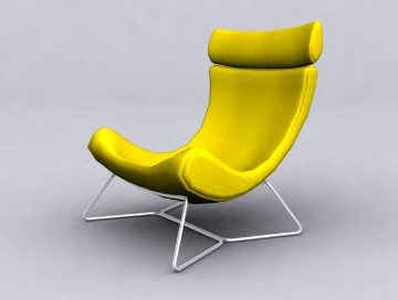 Yellow lounge sessel 3d model download free 3d models download for Yellow schaukelstuhl