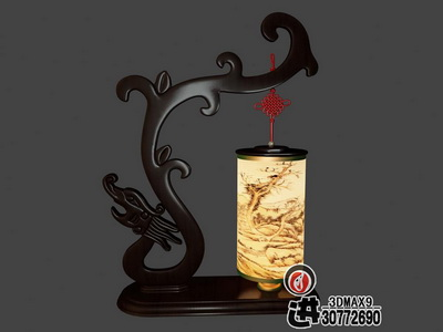 Chinesisch stil aus holz lampe 1 3d model download free 3d for Lampen 3d modelle
