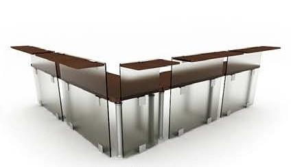 Die kombination von glas schreibtisch 3d model download for Schreibtisch 3d modell