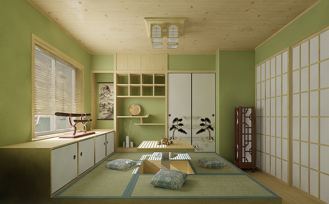 japanisch stil zimmer 3 3d model download free 3d models download. Black Bedroom Furniture Sets. Home Design Ideas