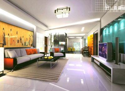 Wohnzimmer, 3D-Modell, kostenloser Download, Materialien, Dekoration ...