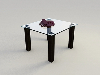 Glass Coffee Table 3D-Modell
