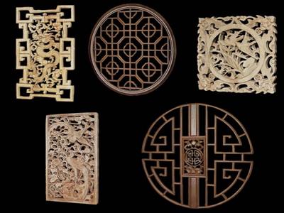 3d Modell Der Chinesischen Holz Schnitzen Absatz 3 5 3d