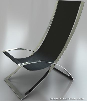 Einfaches modell von zwei edelstahl stuhl 3d model for Lampen 3d modelle