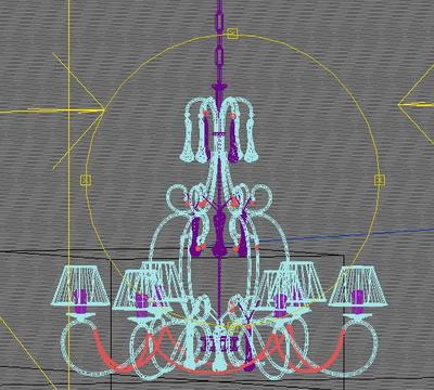 3d modell des europ ischen stil kronleuchter 3d model for Lampen 3d modelle