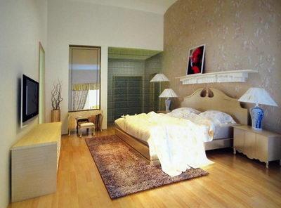 European Style Schlafzimmer Deko 3D Modell (inkl. Material)