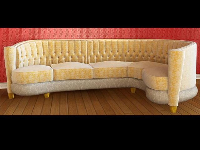 gelbes tuch sofa 3d modell leute einschlie lich. Black Bedroom Furniture Sets. Home Design Ideas