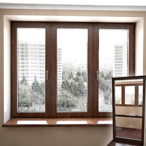 Raffiniertes 3d modell der holz fenster 3d model download for Ventanas en madera para interiores