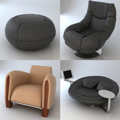 einfache 3d modell der pers nlichkeit sofa 3d model. Black Bedroom Furniture Sets. Home Design Ideas