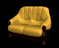 Vintage Yellow Doppelschlafsofa