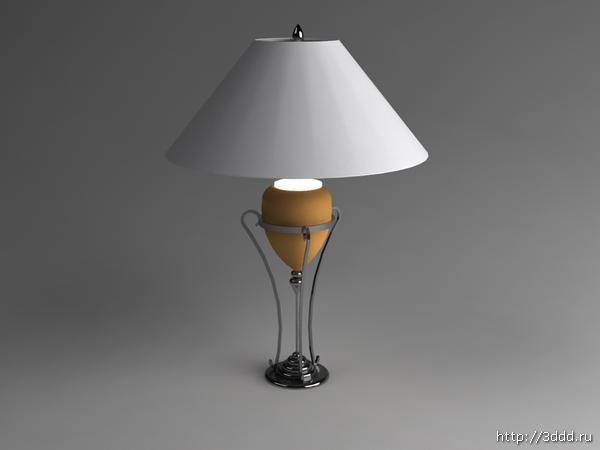 Mode einfachen 3d modell vom typ kompakt leuchtstofflampen for Lampen 3d modelle