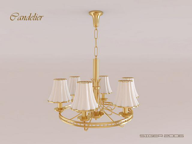 3d modell des goldenen rings kronleuchter 3d model for Lampen 3d modelle