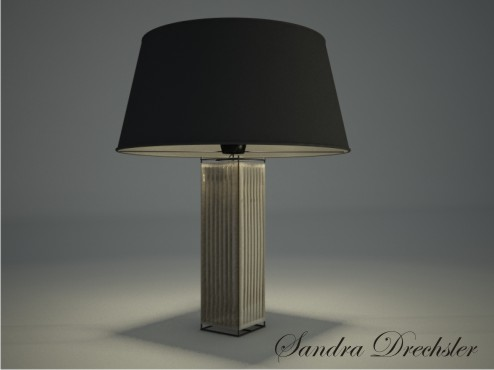 3d modell eines quadrats tischlampe 3d model download free for Lampen 3d modelle