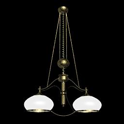 Scale 3d modell von metallischem glas kronleuchter 3d for Lampen 3d modelle