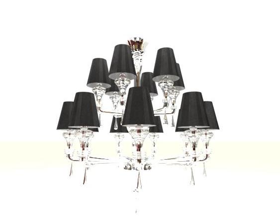 3d modell des kristall kronleuchter einschlie lich for Lampen 3d modelle