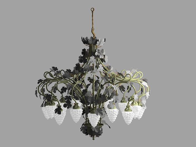 3d modell der kronleuchter stil trauben einschlie lich for Lampen 3d modelle