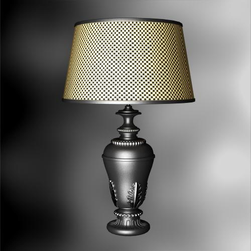 Rustikale tischlampe 3d modell von lattice lampensockel 3d for Lampen 3d modelle