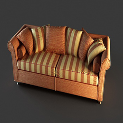 European-style Ledersofa 3D-Modell Schaumstoffpolster Hause