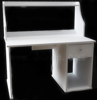 Einfache stil wei e computertisch 3d model download free for Schreibtisch 3d modell