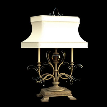 Europ ische klassische wei e schatten lampe 3d model for Lampen 3d modelle