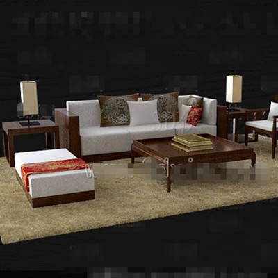 brown holz wei en stoff sofa verbindung 3d model download free 3d models download. Black Bedroom Furniture Sets. Home Design Ideas