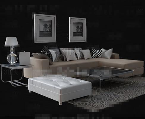 beige leder sofa tee tisch kombination 3d model download free 3d models download. Black Bedroom Furniture Sets. Home Design Ideas