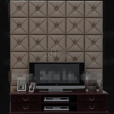 moderne tv wand aus braunem leder 3d model download free 3d models download. Black Bedroom Furniture Sets. Home Design Ideas