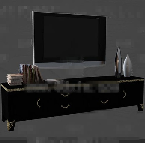 moderne holz schwarz tv schrank 3d model download free 3d models download. Black Bedroom Furniture Sets. Home Design Ideas