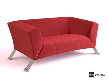 moderne rote und bequemes sofa 3d model download free 3d models download. Black Bedroom Furniture Sets. Home Design Ideas