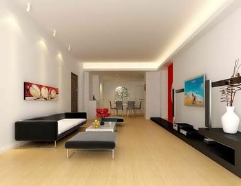 Großer Raum lange und schmale Wohnzimmer 3D Model Download,Free 3D ...