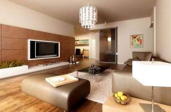 Moderne einfache und elegante wohnzimmer 3d model download - Pintar un piso colores de moda ...