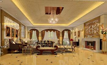 Exquisite Goldene Luxus Wohnzimmer 3d Model Download Free