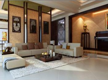 chinesischen stil elegant einfaches wohnzimmer 3d model