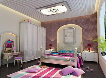 moderne helle farben kleines schlafzimmer 3d model. Black Bedroom Furniture Sets. Home Design Ideas