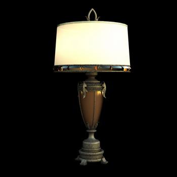 European style retro schreibtischlampe 3d modell 3d model for Lampen 3d modelle