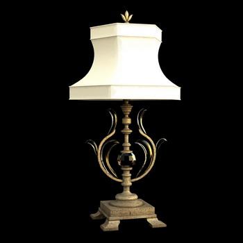 Europ ische retro metallsockel schreibtischlampe 3d model for Lampen 3d modelle