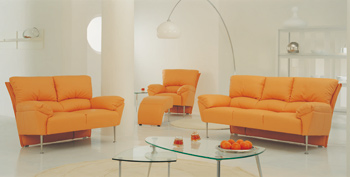 European-style orange Sofa Kombination