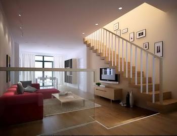 Die warmen Farben Penthouse Wohnzimmer Modell 3D Model ...