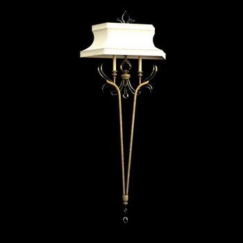 Europ ische klassische wandleuchte 3d modell 3d model for Lampen 3d modelle