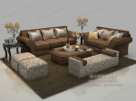 Brown-Sofa 3D-Modell