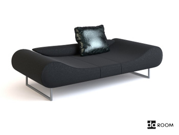 schwarze wildleder couch sch nheit modell 3d model download free 3d models download. Black Bedroom Furniture Sets. Home Design Ideas