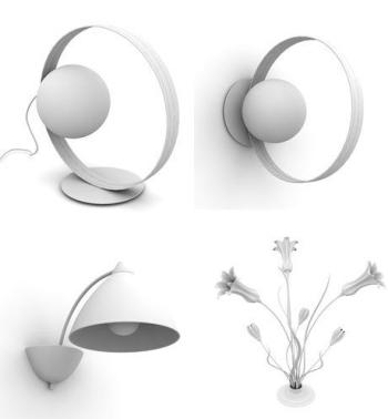 Die mode pers nlichkeit lampen 3d modelle 3d model for Lampen 3d modelle