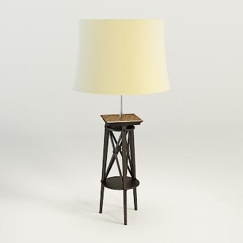 3d modell des modernen holzsockel stehleuchte 3d model for Lampen 3d modelle