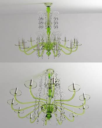 Die mode kristall kronleuchter 3d modelle 3d model for Lampen 3d modelle