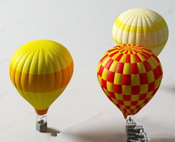 Farbe kreative Heißluftballon Modell 3D Model Download ...