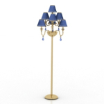 Edle blaue Stehlampe 3D-Modell