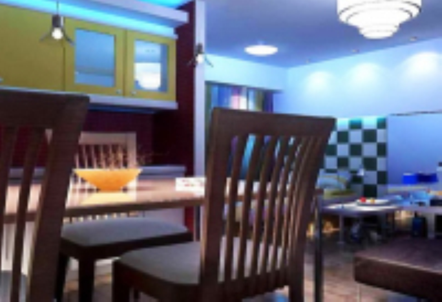 Multifunktions-Restaurant 3D-Modelle