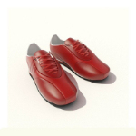 Red Leder-Sneakers 3D-Modell