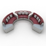 Ring-Multiplayer-Sofa 3D-Modell