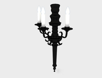 european candle lampe 3d - modell